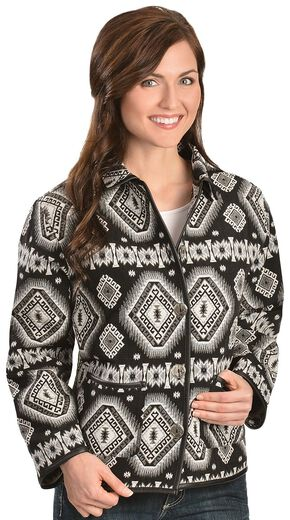 Red Ranch Women's Aztec Tapestry Jacket, Black, hi-res
