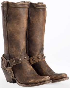 Ariat Women's Brown Rowan Harness Boots - Square Toe , Brown, hi-res