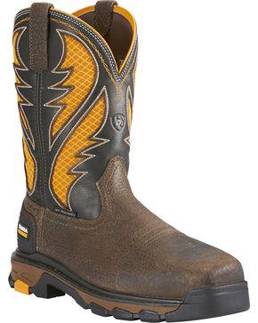 Ariat Men's Brown Intrepid VentTEK Work Boots - Composite Toe , Brown, hi-res