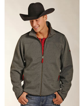 Powder River Outfitters Men's Melange Knit Jacket, Grey, hi-res