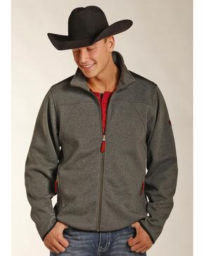 Powder River Outfitters Men's Melange Knit Jacket, Grey, hi-res