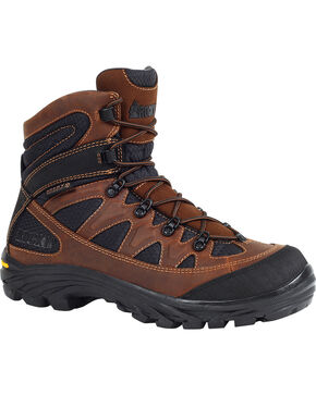 "Rocky Men's 6"" Ridgetop Waterproof Hiking Boots, Brown, hi-res"