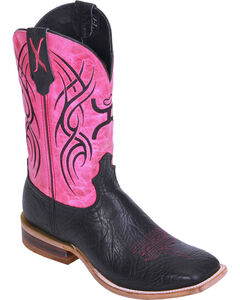 Hooey by Twisted X Neon Pink Cowgirl Boots - Wide Square Toe, , hi-res