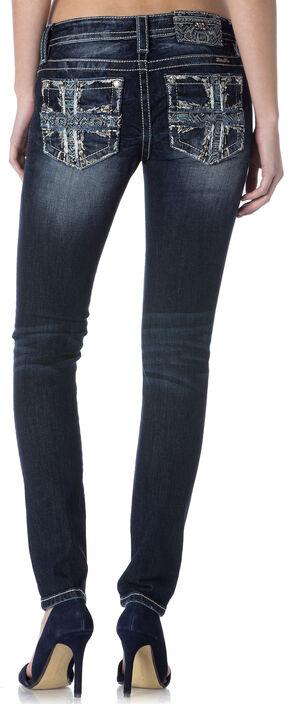 Miss Me Women's Cross Pocket Skinny Jeans , Indigo, hi-res