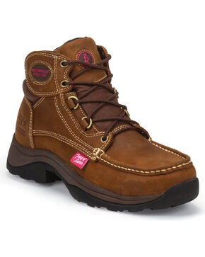 Tony Lama Women's Brown Tuscola Work Boots - Steel Toe , Brown, hi-res