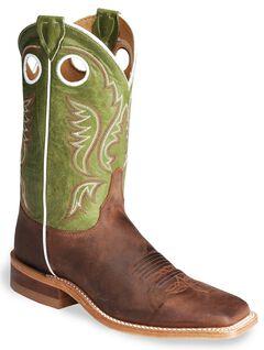 Justin Bent Rail Cognac Cowboy Boots - Square Toe, , hi-res