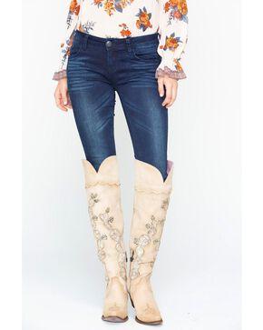 Grace in LA Dark Blue Skinny Jeans, Indigo, hi-res