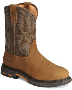 Ariat Brown H20 Workhog Work Boots - Round Toe, , hi-res