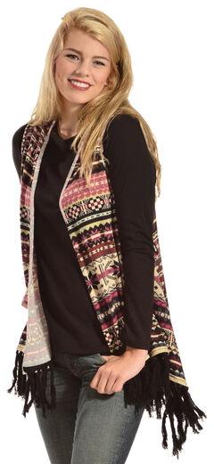 R Cinco Ranch Women's Allie Aztec Draped Fringe Vest, , hi-res