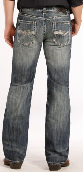 Rock and Roll Cowboy Pistol Fit Flat Seam Jeans - Straight Leg , Denim, hi-res
