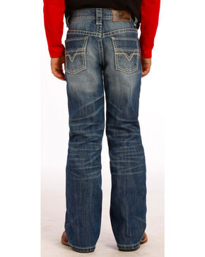 "Rock and Roll Cowboy Boys' Medium Wash ""V"" Jeans , Indigo, hi-res"