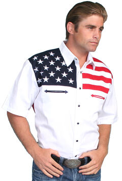 Scully American Flag Colorblock Western Shirt - Big & Tall, , hi-res