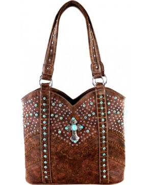 Montana West Coffee Spiritual Collection Tote, Brown, hi-res