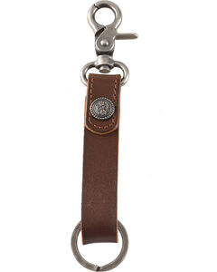 Cody James Leather Floral Concho Keychain, , hi-res