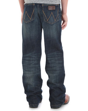 Wrangler Retro Boys' (8-18 Husky) Relaxed Fit Jeans - Boot Cut, Blue, hi-res