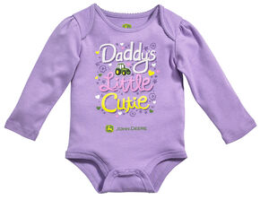 John Deere Infant Girls' Daddy's Little Cutie Long Sleeve Bodysuit, Lavender, hi-res