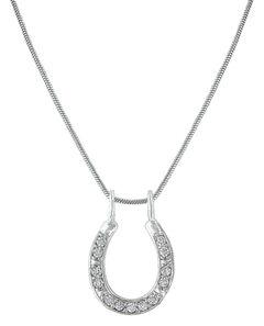 Montana Silversmiths Shining Bright Horseshoe Necklace, , hi-res