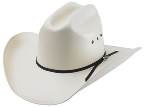 Tony Lama Shantung Straw Cowboy Hat, Natural, hi-res