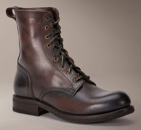 Frye Sutton Tall Lace Up Boots, Dark Brown, hi-res
