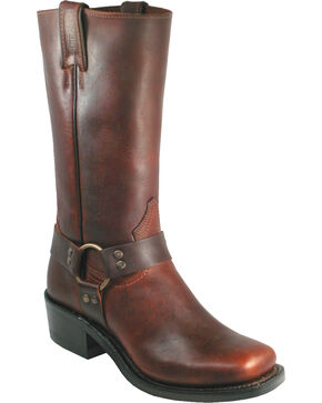 Boulet Grizzly Mountain Harness Boots - Square Toe, Dark Brown, hi-res