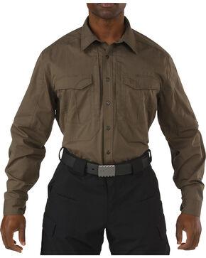 5.11 Tactical Stryke Long Sleeve Shirt - Tall Sizes (2XT - 5XT), Dark Brown, hi-res