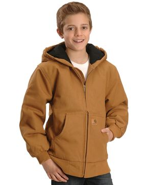 Carhartt Duck Active Jacket - 10-20, Brown, hi-res
