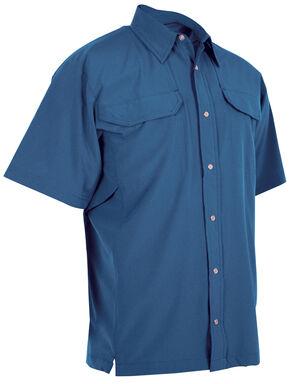 Tru-Spec Men's 24-7 Cool Camp Shirt, Blue, hi-res
