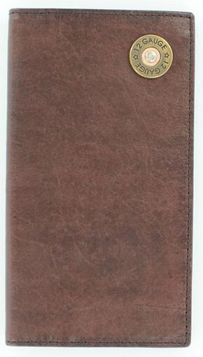 Nocona Shotgun Shell Concho Rodeo Wallet, Brown, hi-res