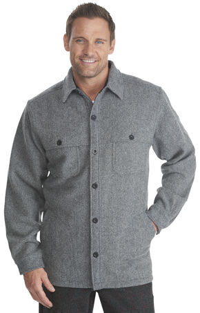 Woolrich Men's Wool Stag Shirt Jacket, Grey, hi-res