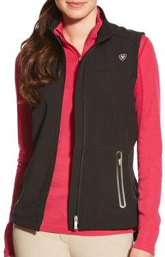 Ariat Women's Black Vivid Softshell Vest , , hi-res