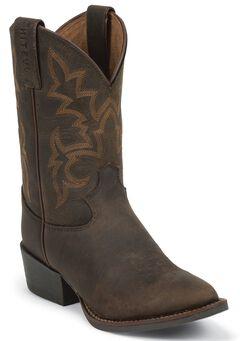 Justin Youth Boys' Cowboy Boots - Round Toe, , hi-res