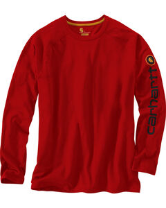 Carhartt Men's Force Cotton Delmont Sleeve Graphic Long-Sleeve T-Shirt, , hi-res