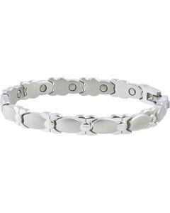 Sabona Women's Silver Bows Magnetic Bracelet, , hi-res