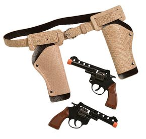 Little Outlaw Double Gun Holster Set, Khaki, hi-res
