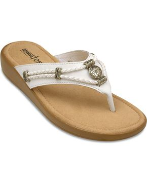Minnetonka Silverthorne Wedge Sandals, White, hi-res