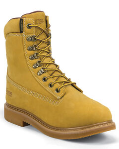 """Chippewa Nubuc Waterproof & Insulated 8"""" Lace-Up Work Boots - Round Toe, , hi-res"""