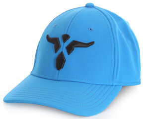 Wrangler Men's 20X Blue Stretch Fit Cap with Bull, Blue, hi-res
