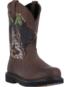 "McRae Industrial Men's Camo 11"" Pull-On Work Boots - Composite Toe , , hi-res"