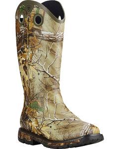 Ariat Men's Conquest Waterproof Camo Rubber Buckaroo Boots - Square Toe, , hi-res