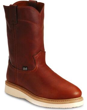 Justin Premium Wedge Work Boots - Steel Toe, Tan, hi-res