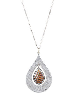 Montana Silversmiths Flower's Champagne Spark Necklace, , hi-res