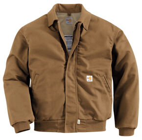 Carhartt Flame Resistant All-Season Bomber Jacket, Brown, hi-res