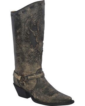 Corral Women's Eagle Harness Boots - Snip Toe, Black, hi-res