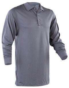 Tru-Spec Men's Dark Grey 24-7 Performance Long Sleeve Polo , , hi-res
