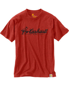 Carhartt Men's Red Maddock Graphic Script T-Shirt, Red, hi-res