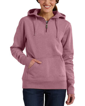 Carhartt Women's Purple Clarksburg Quarter-Zip Sweatshirt, Purple, hi-res
