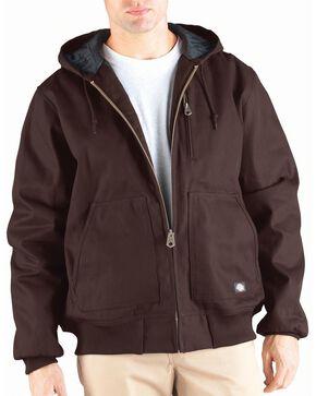 Dickies Rigid Duck Hooded Jacket - Big & Tall, Brown, hi-res