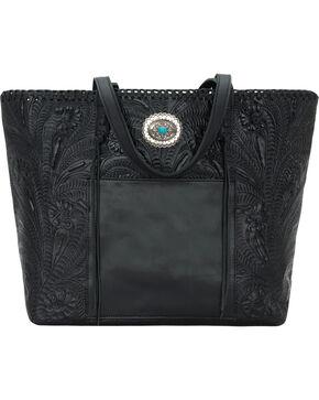 American West Women's Santa Barbara Large Shopper Tote, Black, hi-res