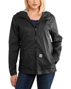 Carhartt Women's Rockford Windbreaker Waterproof Jacket, Black, hi-res
