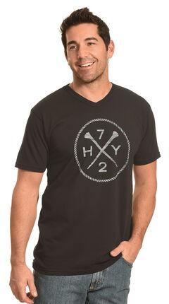 Hooey Men's Black HY72 V-Neck T-Shirt , , hi-res